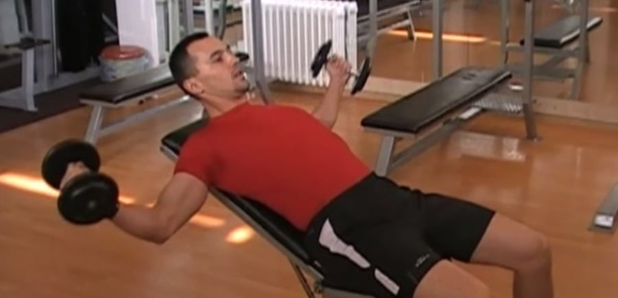 incline dumbbell fly