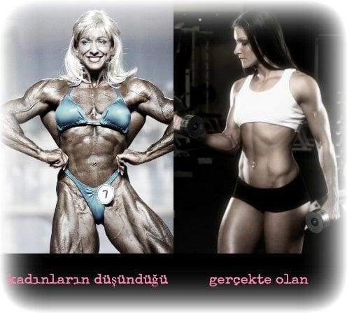 kadın vücut geliştirme