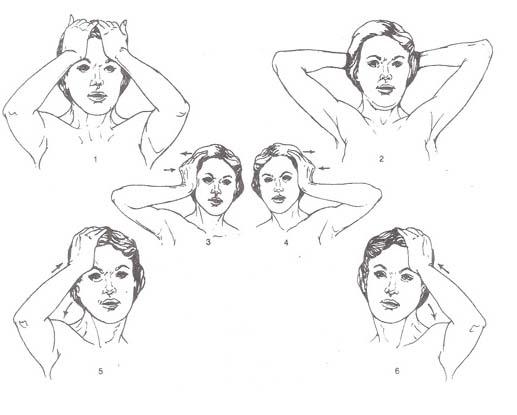 izometrik boyun egzersizleri